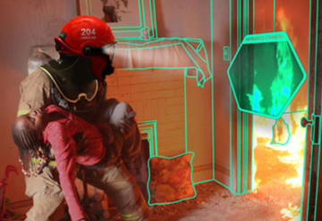 Casco para dotar a los bomberos de visión sobrehumana
