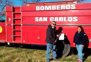 Los Bomberos de San Carlos recuperaron la autobomba dañada