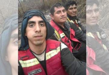 Bomberos jujeños combaten el fuego en Bolivia