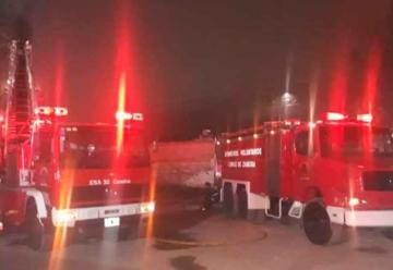 Se incendió un importante frigorífico de Lomas de Zamora