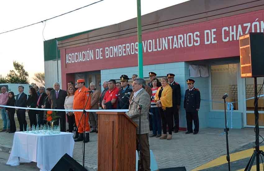 Bomberos Voluntarios de Chazón festejó su 10º Aniversario