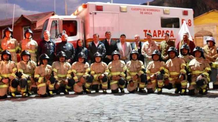 Estrenan primera Brigada de Bomberos de Parinacota
