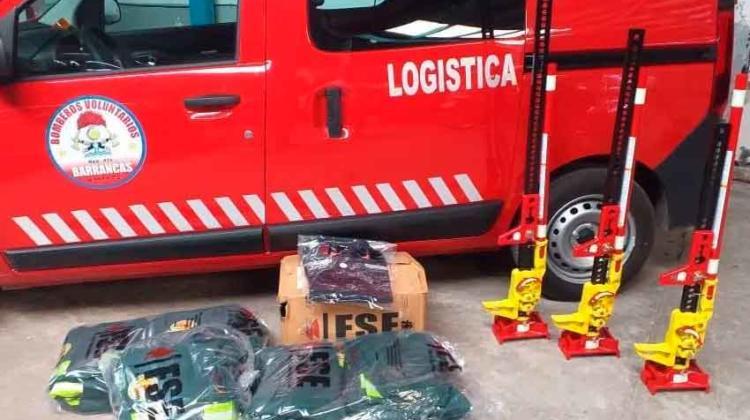 Bomberos Voluntarios de Barrancas sigue sumando equipamiento