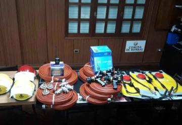 Bomberos Voluntarios de Bombal con nuevos materiales