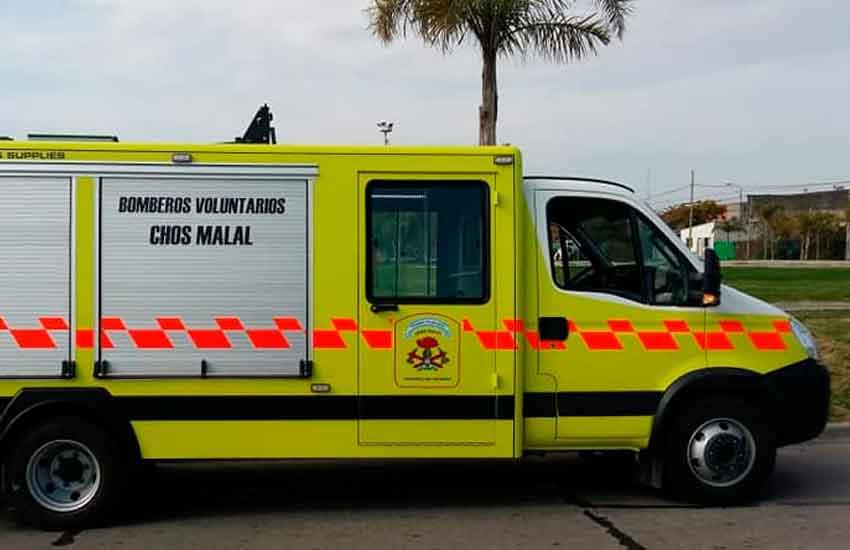Nueva autobomba para Bomberos Voluntarios de Chos Malal