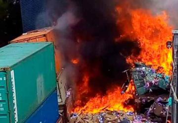 Choque de trenes en Hidalgo causa incendio