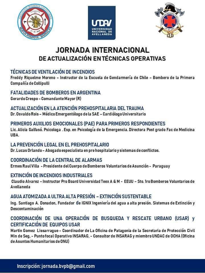Jornada Internacional de Actualización en Técnicas Operativas