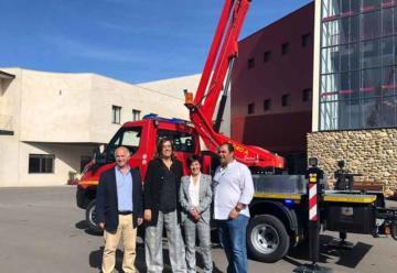Ayuntamiento de Guardo con nuevo camión de bomberos