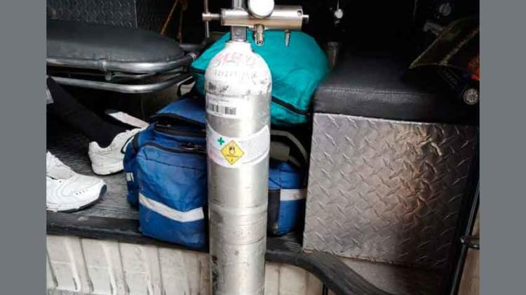 Roban cilindro de oxígeno a Bomberos Voluntarios
