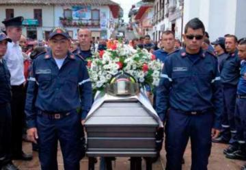 Honras fúnebres al bombero Julián Andrés Pineda Rivera