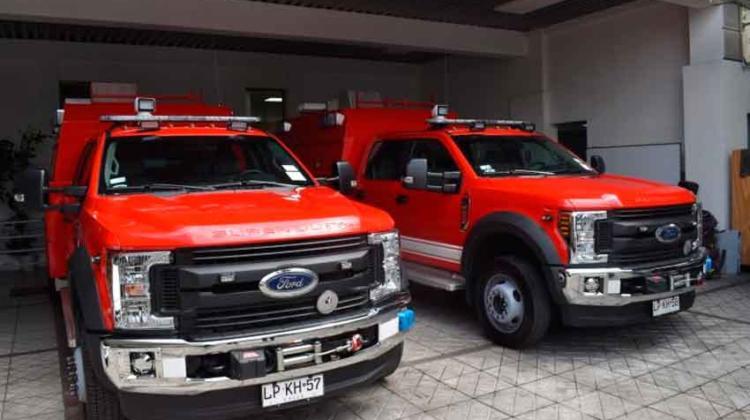 Bomberos de El Palqui reciben modernas unidades de rescate