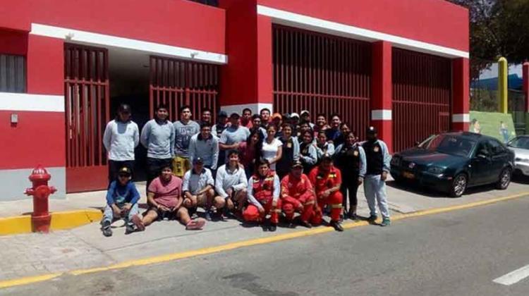 Inauguran primera compañía de bomberos de Jacobo Hunter