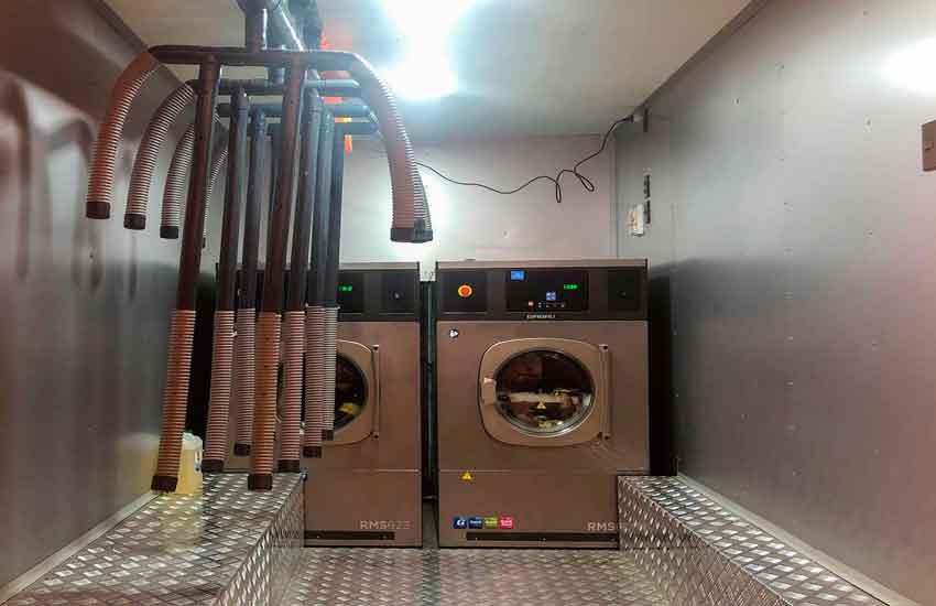 Carro de lavandería del Cuerpo de Bomberos de Valparaíso