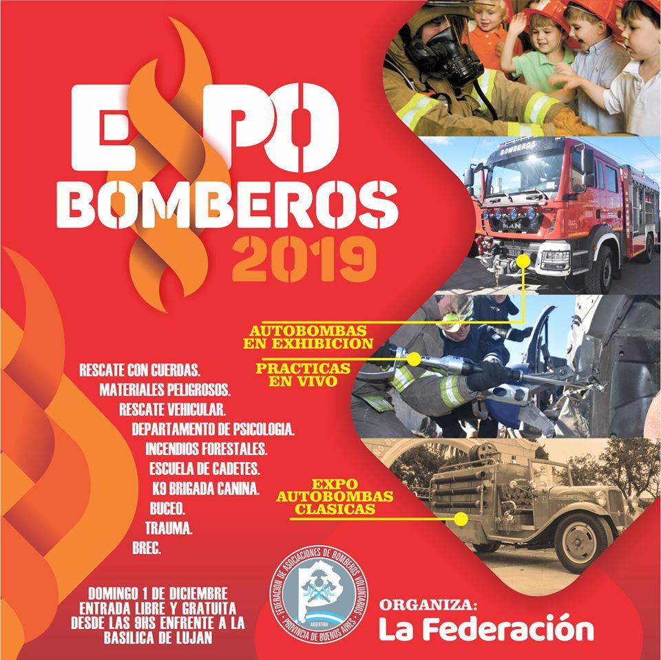 Muestra de Bomberos de Buenos Aires en Luján