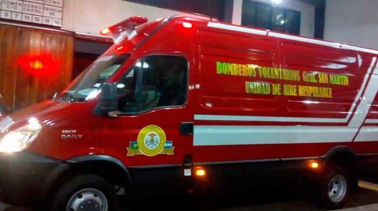 Bomberos Voluntarios San Martin con nueva unidad