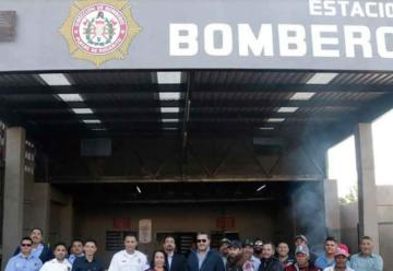 Reciben estación de bomberos remodelada en Primo Tapia