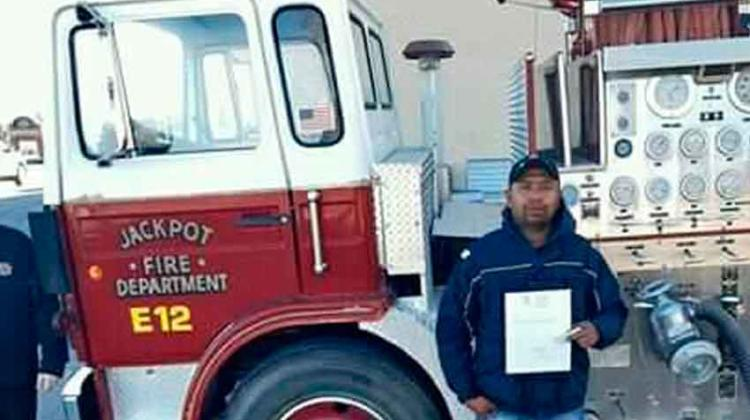 Unidad de bomberos en aduana mexicana
