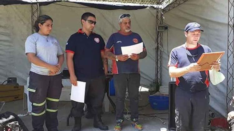Bomberos de Berisso apadrinarán a sus pares de La Paz