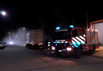 Se le incendiaba el camión y lo llevó hasta el cuartel de bomberos