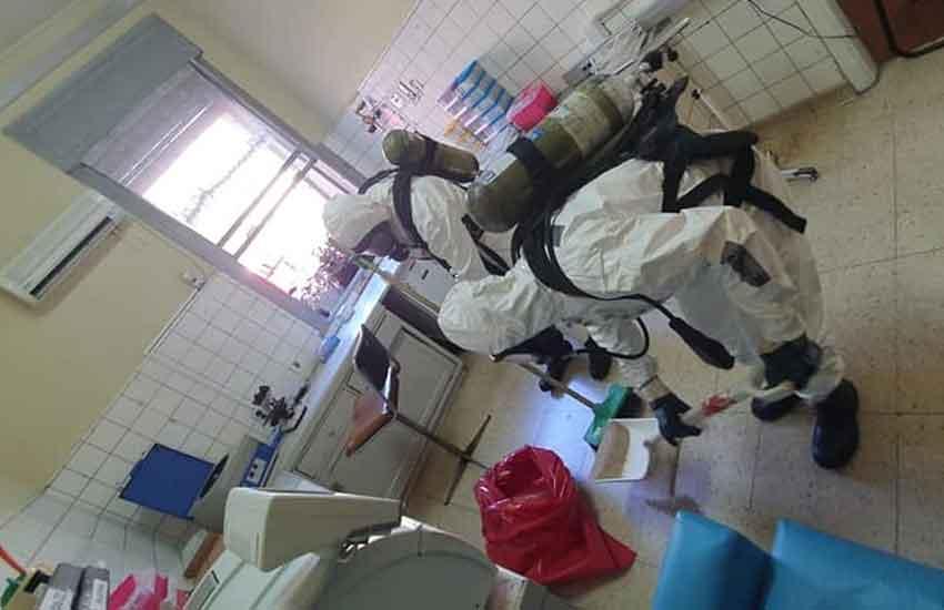Bomberos y Defensa Civil en Simulacro en el Hospital Udaondo