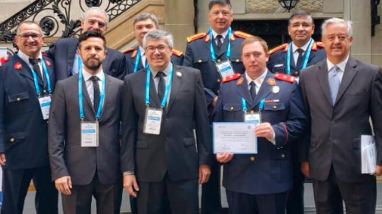 Entrega de la Acreditación a la Brigada USAR de Federación Córdoba