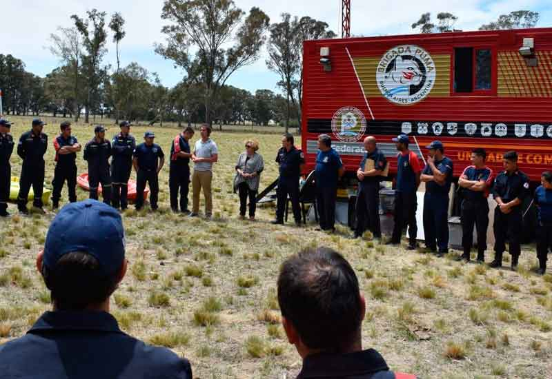 Bomberos Voluntarios realizaron simulacro de rescate en Epecuén
