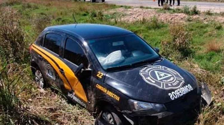 Un móvil de Bomberos de Maquinista Savio protagonizó un accidente