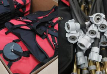 INFOREST exporta a Honduras sus mochilas para incendios Forestales