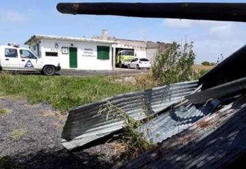 Se voló el techo de un cuartel de Bomberos
