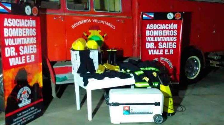Nuevos equipos para Bomberos Voluntarios Viale