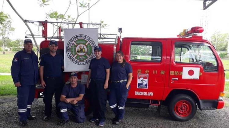Bomberos Voluntarios de Itapúa Poty recibió carro hidrante