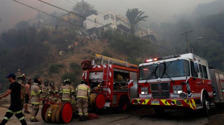 Incendios en Valparaíso podrían haber sido provocados