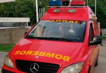 Ambulancia de Bomberos de Parral fue apedreada en Talca