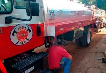 Municipio le dona cisterna a Bomberos pero sin la bomba