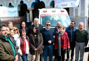 Entregan ambulancia a Bomberos y PC de Tehuacán