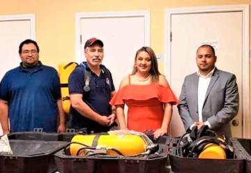 Bomberos Voluntarios de Río Bravo reciben equipo