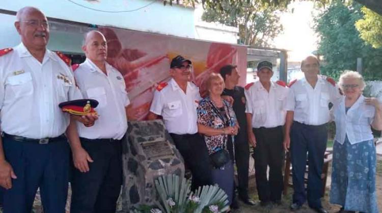 Homenajearon al Bombero Millán a 40 años de su muerte