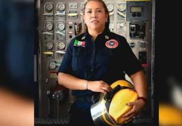 Roban equipo de rescate a bombera en Monterrey
