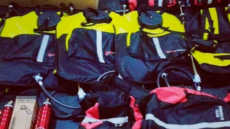 Bomberos Voluntarios de Saldan con nuevos equipos forestales