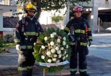Recuerdan a bombero que murió en cumplimiento del deber