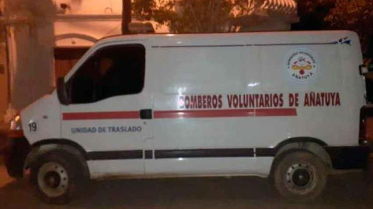 Atacaron a piedrazos la ambulancia de los Bomberos Voluntarios de Añatuya