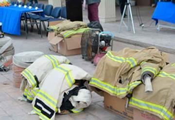 Entregan equipos a bomberos de Meoqui – Saucillo – La Cruz y Rosales