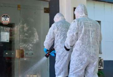 Personal de Bomberos y Municipales realizan desinfección