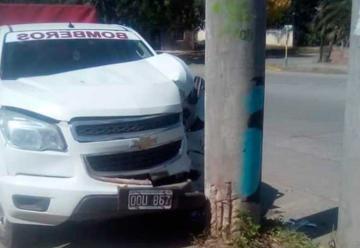 Chocó camioneta de Bomberos Posta de Yatasto