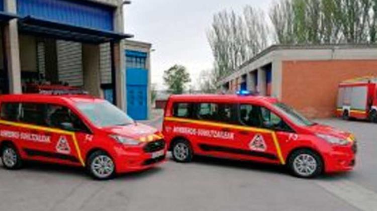 2 nuevos vehículos para los bomberos de Vitoria