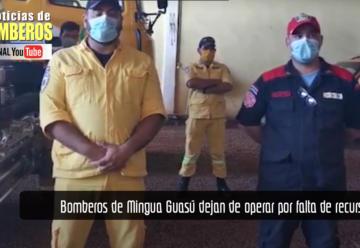 Bomberos de Mingua Guasú dejan de operar por falta de recursos