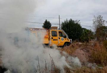 Bomberos de Ciudad de la Rioja controlo quema de pastizales