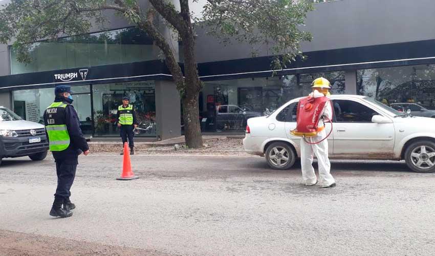 Bomberos Voluntarios de San Lorenzo realiza desinfección