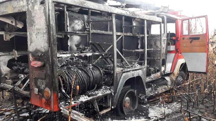 Se incendió camión de Bomberos Voluntarios de Ramona
