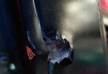 Móvil acudía a un incendio y recibió un impacto de bala